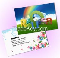 fashionable 3d lenticular plastic vip business name card