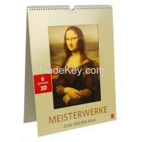 factory wholesale price wall/desk/table 3D lenticular calendar