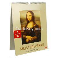 factory wholesale price wall/desk/table 3D lenticular calendar