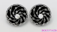 Vintage Charming Style Coin Shape Statement Stud Earrings for Lady