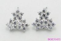 2014 Full Rhinestone Flower Earring, Elegant Stud Earrings for women