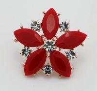 Delicate Classic style Stud Earrings Elegance handmade Ruby Flower Shape Stud Earrings