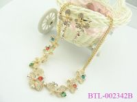 18k gold plated multicolor semi-precious stone butterfly jewelry sets