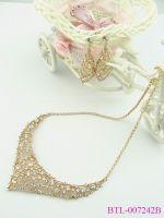 Luxury Golden Crystal Wedding Jewelry Set Wholesale