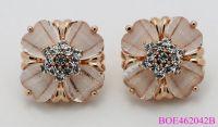 Wholesale Popular Fashion Statement Flower Shape Stud Opal earrings