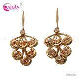 Luxury Gold Dangle Crystal Earrings Dangle Drop Long Earrings for Women Wedding Jewelry