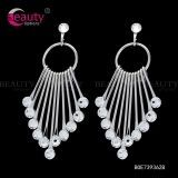 Sliver Fashion Jewelry Rhinestone Charming Jassel Drop Earrings