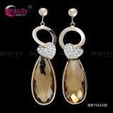 New Arrival Heart Shape Crystal Rhinestone Water Drop Earrings