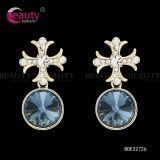 Charming Blue Crystal Drop Dangle Earrings Jewelry for Lady