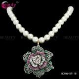 Elegant Rose Pearl Chain Necklace Jewelry With Rose Pendants For Women Item ID #BOCN641311B
