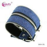 Fashion Style Simple Design Blue Leather Bracelet for Men