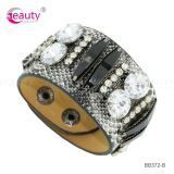 Luxury Fashion Bright Crystal Cow Leather Bracelet