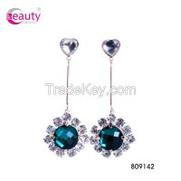 Charming Stylish Shinning Flower Crystal Drop Earrings for Lady