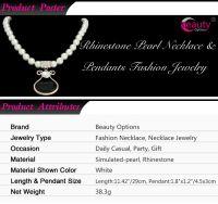 Rhinestone pearl necklace & fashion crystal pendant jewelry