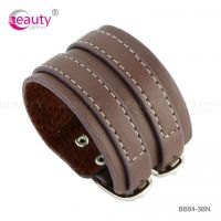 European Popular Punk Style Genuine Leather Bracelets
