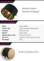 Charming Fashion Bangles Leather Bracelets Jewelry For Fashion Plepeo Item ID #BB411