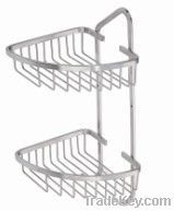 Wall mounted bathroom wire basket, net shelf,