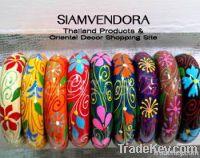 Dazzling Handpainted Wooden Bangle