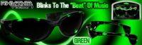 Green Rhythm Vizion Sound Activated Sunglasses
