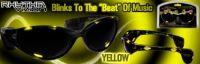 YELLOW Rhythm Vizion Sound Activated Sunglasses