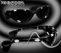 WHITE Rhythm Vizion Sound Activated Sunglasses