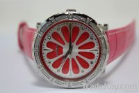 2012 elegant stainless ladies leather watch