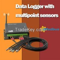Multipoint Temperature GSM Data Logger