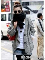 Wholesale Fashion Long Sleeve Simple Sweater Coat