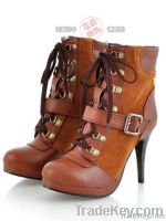 Fashion Antiskid Sole Slipsole Lace-up Boot