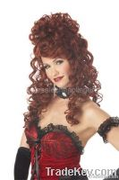 Red Saloon Madame Wig