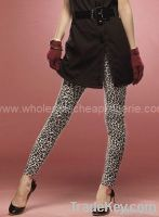 White Leopard Stretch Leggings