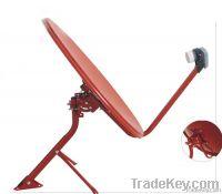 Offset satellite dish antenna
