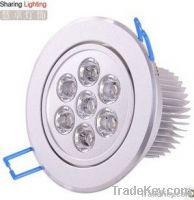 7W Non Dimmable Warm White Recessed LED Ceiling Downlight Spot light