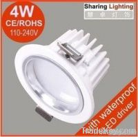 4W led downlighting, recessed LED ceiling lamp spotlight