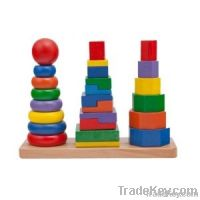 Organic Wooden Toys - Triple Towers