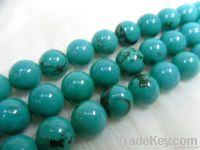 Natural turquoise round beads/Semi-precious stone loose beads/Gemstone