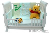 Solid NZ Pine Baby Sleigh Cot