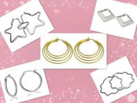 2014 glamour Steel chic young accessories oval hoop earring