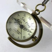 1882's Copper Ball Glass Quartz Pocket Watch