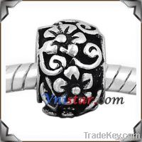 Antique silver plated European beads