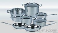 cookware sets 11 pcs in stainless steel