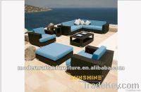 outdoor furniture-rattan garden sectiona sofa