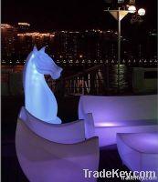 Garden Modern Outdoor Furniture- LED llluminated Furniture horse
