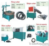 Waste Tyre/ Tire shredding and recycling Cutting Machine