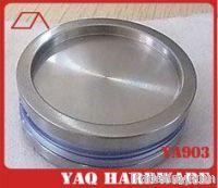 Bathroom recessed cup doorknob 60*30mm for Glass shower enclosur