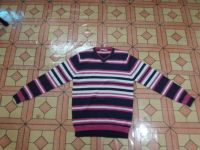 Mans Stripe V/Neck Long Sleeve Sweater