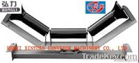 Impact troughing idler rollers for belt convyeors