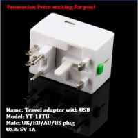 universal multi plug sockets with USB 5V 1A