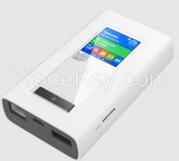 4G LTE MIFI router with power bank and dual sim card slots