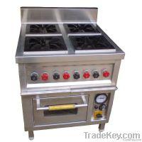 Four Burner Range with Oven